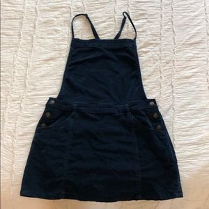 Free people Navy blue corduroy overall dress